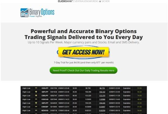Signalanbieter - Binary-Options-Power-Signals
