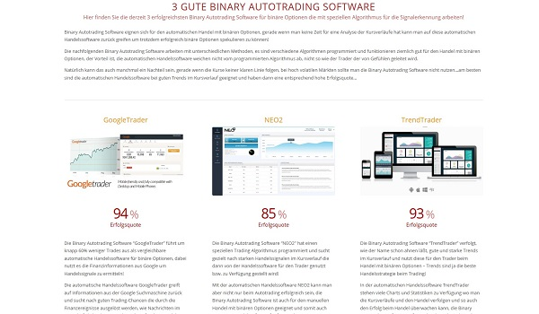 Binary autotrader software