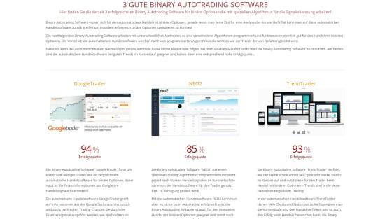 Neue Seite mit Binary Autotrading Software
