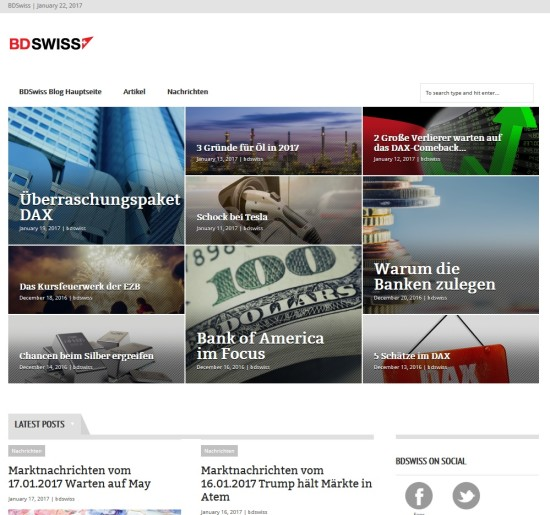 Der Trading-Blog vom Broker BDSwiss
