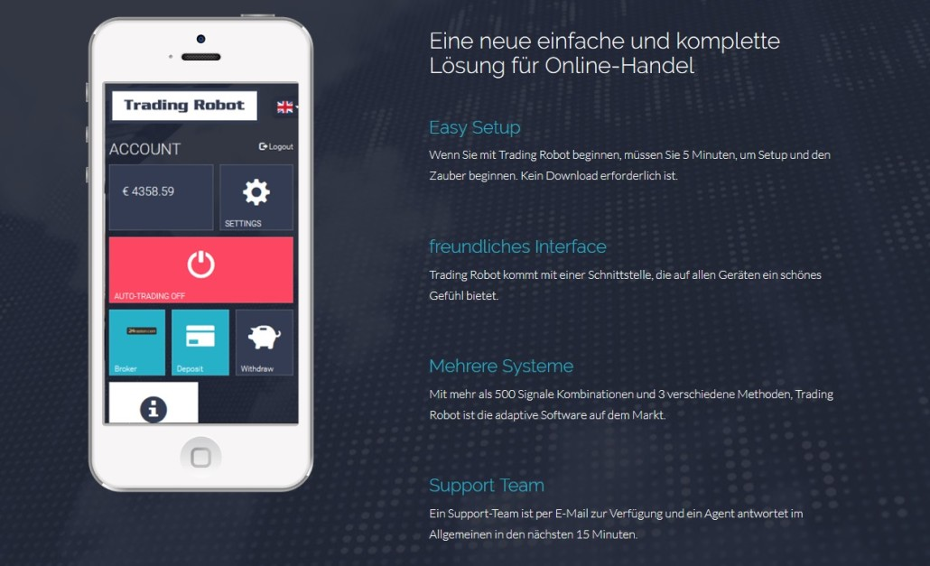 TradingRobot - Mit Smartphone Geld verdienen