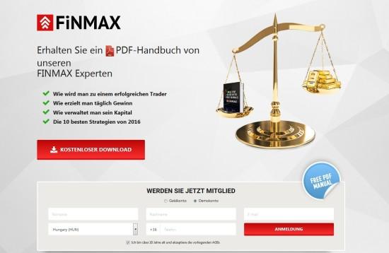 Broker Finmax bietet kostenloses PDF-Handbuch für Trading-Einsteiger