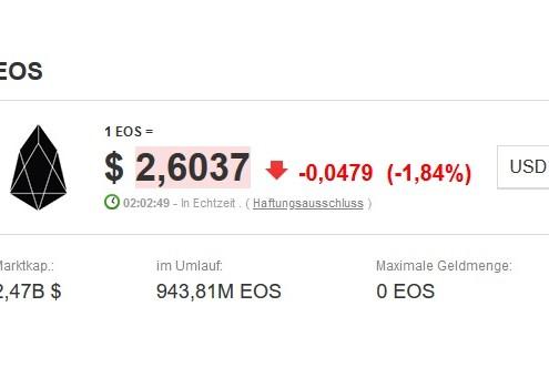 Kryptowährung EOS interessant für Trading