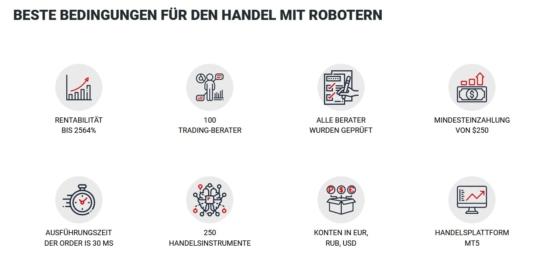 Vorteile Trading-Robot MaxPoint für Metatrader