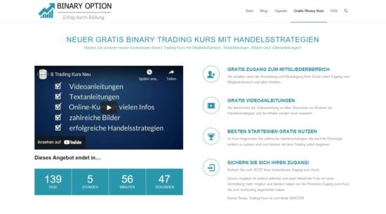 Der Gratis Binary Trading Kurs mit Informationen und Strategien